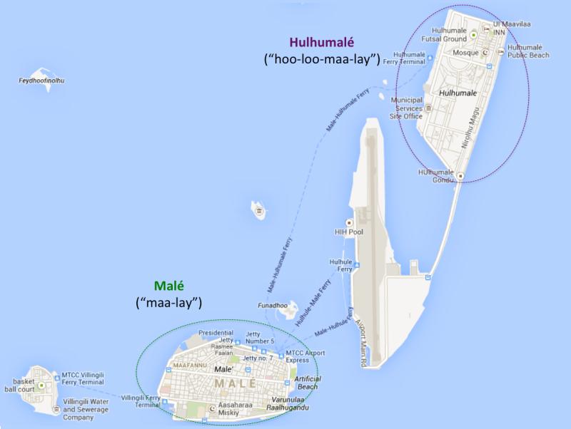 Map of Mal and Hulhumal – Map of Arabia